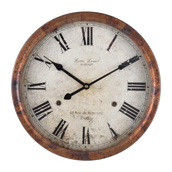 Nástenné hodiny Clayre & Eef Hernie, ⌀36 cm