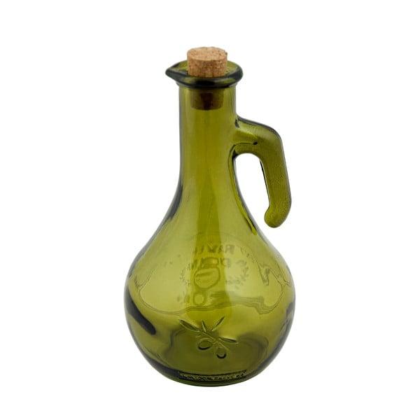 Zelená láhev na olej z recyklovaného skla Ego Dekor Olive, 500 ml
