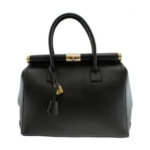Černá kožená kabelka Chicca Borse Blair