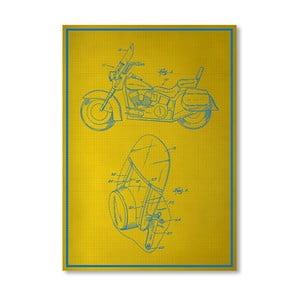 Plakát Motorcycle, 30x42 cm