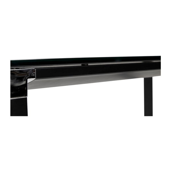 Černý pracovní stůl se skleněnou deskou Kokoon Warner