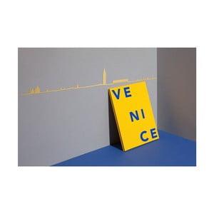 Pozlacená nástěnná dekorace se siluetou města The Line Venice