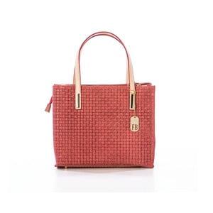 Červená kabelka z pravé kůže Federica Bassi Samia