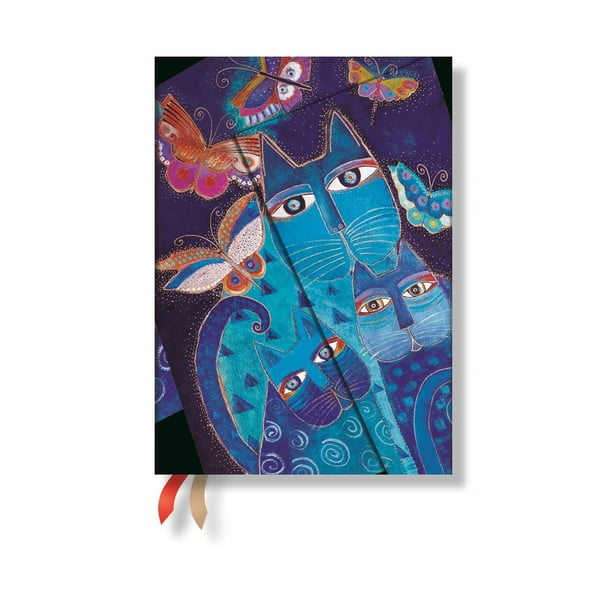 Diář pro rok 2015 Blue Cats&Butterflies 13x8 cm, verso výpis dnů
