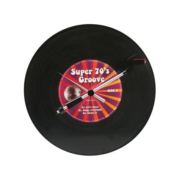 Hodiny Spinning Record Groovy
