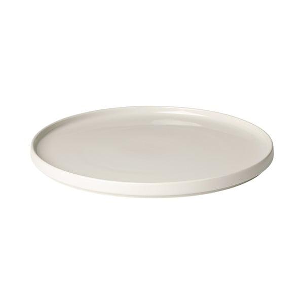Bílý keramický servírovací talíř Blomus Pilar