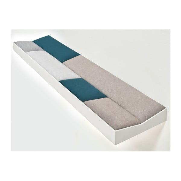 Snug White Green, polstrovaná police 100 cm