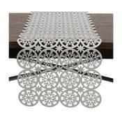 Běhoun na stůl ve stříbrné barvě InArt XMas Snowflake