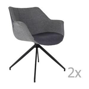 Sada 2  šedých židlí Zuiver Doulton