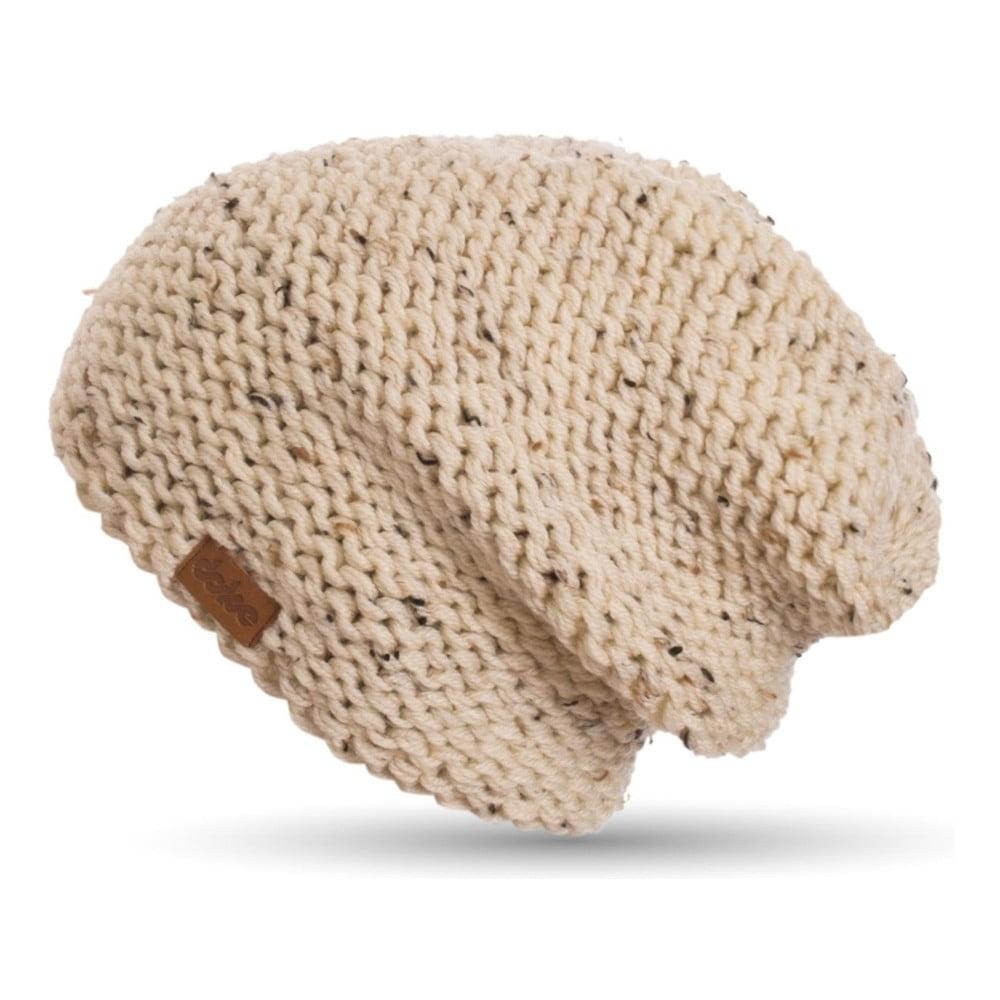 Béžová ručně pletená čepice DOKE Tweed  5a0436b50c