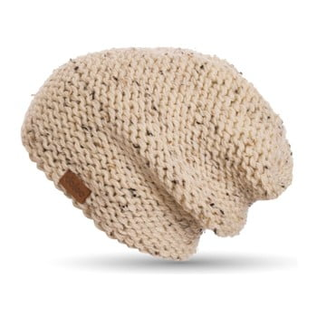 Căciulă tricotată manual DOKE Tweed, bej imagine