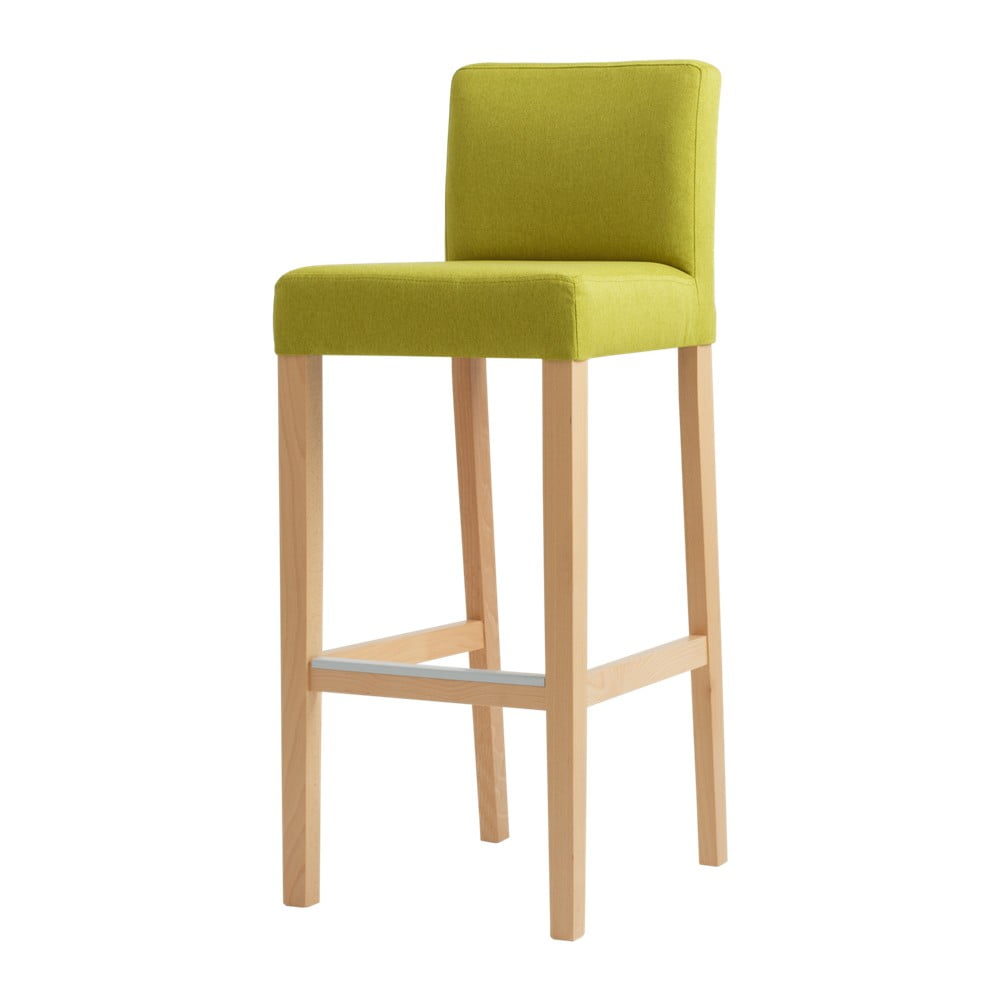 Zelená barová židle s přírodními nohami Custom Form Wilton