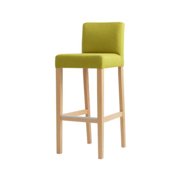 Zelená barová stolička s prírodnými nohami Custom Form Wilton