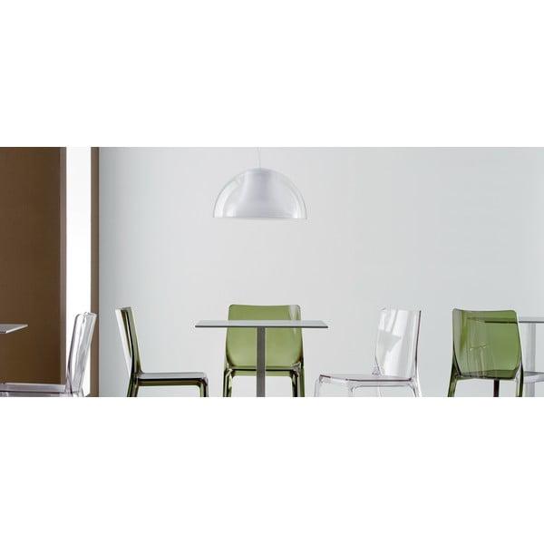 Závěsné svítidlo Pedrali L002S/BA, bílé transparentní