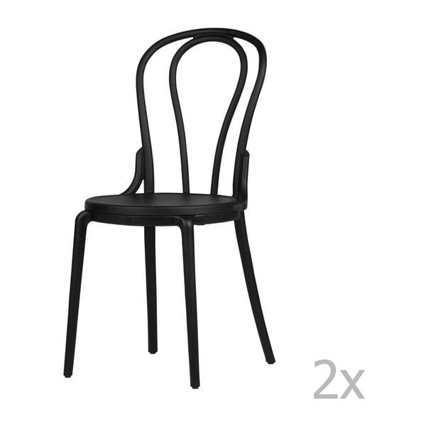 Sada 2 černých židlí De Eekhoorn Bibi