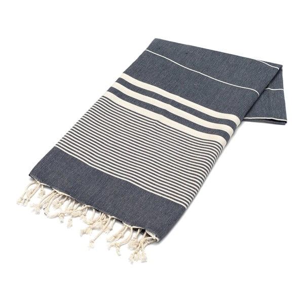 Hammam osuška American Stripes B&W, 100x180 cm