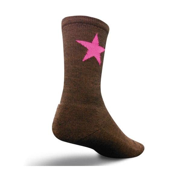 Ponožky Wooligan Pink Star, vel. 37-42