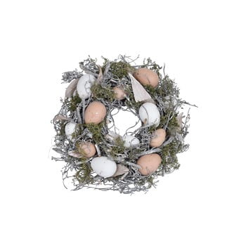 Coroniță decorativă Ego Dekor Feathers and Moss ⌀ 25 cm imagine