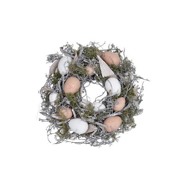 Velikonoční dekorativní věnec Ego Dekor Feathers and Moss, ⌀25 cm