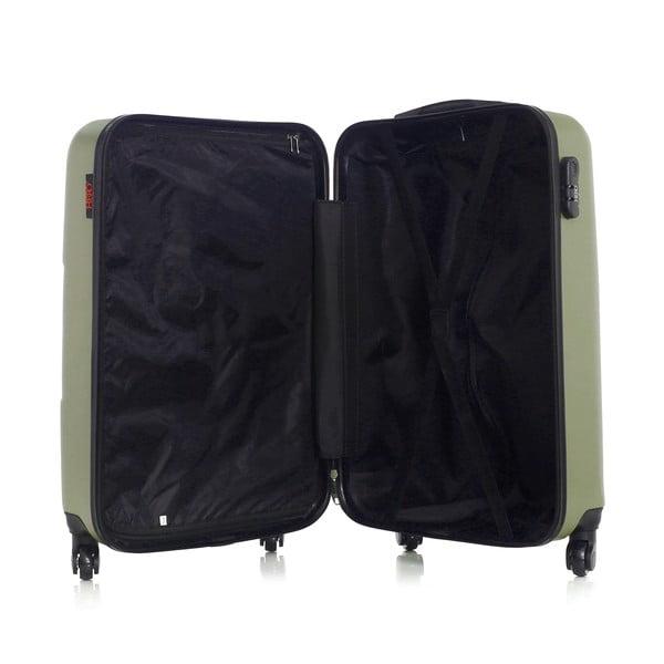Zelený cestovní kufr na kolečkách Hero Coronado, 61 l
