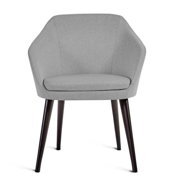Šedá židle Charlie Pommier S