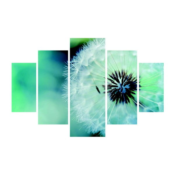 Obraz wieloczęściowy Fluffy Green, 92x56 cm