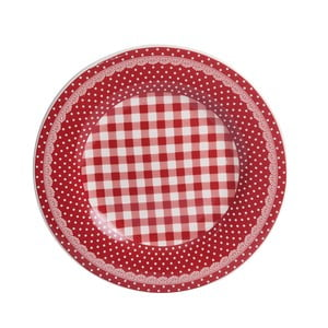 Dezertní talíř Red Dots&Checks, 20.5 cm