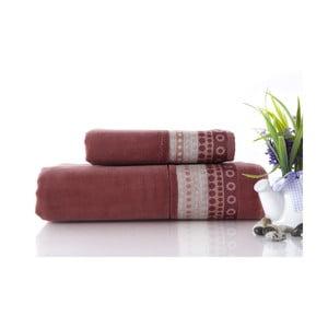Set dvou ručníků Golf Brick Color, 70x140 a 50x90 cm