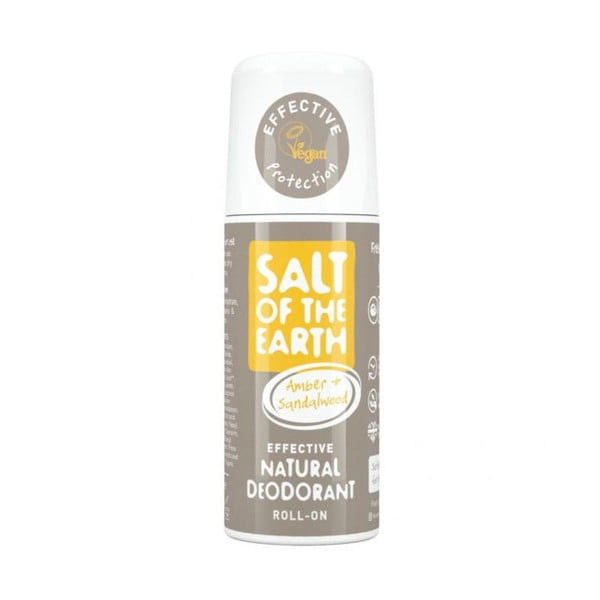 Roll-on deodorant Salt of the Earth Pure Aura Ambra Santal, 75 ml