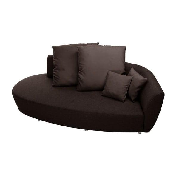 Canapea cu trei locuri Florenzzi Viotti, spătar pe partea dreaptă, maro
