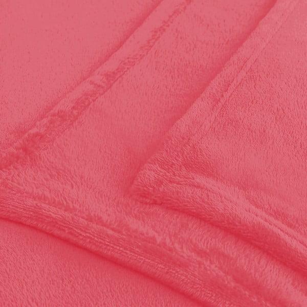 Pătură din microfibră Decoking Mic, 200 x 220 cm, roșu