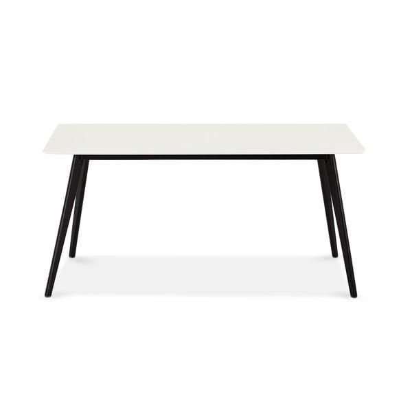Biały stół z czarnymi nogami Furnhouse Life, 160x90 cm