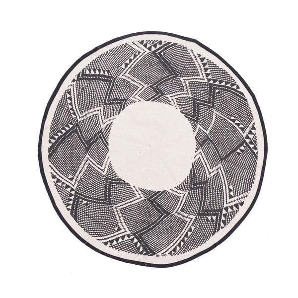 Bawełniany okrągły dywan InArt Trippy, ⌀ 90 cm