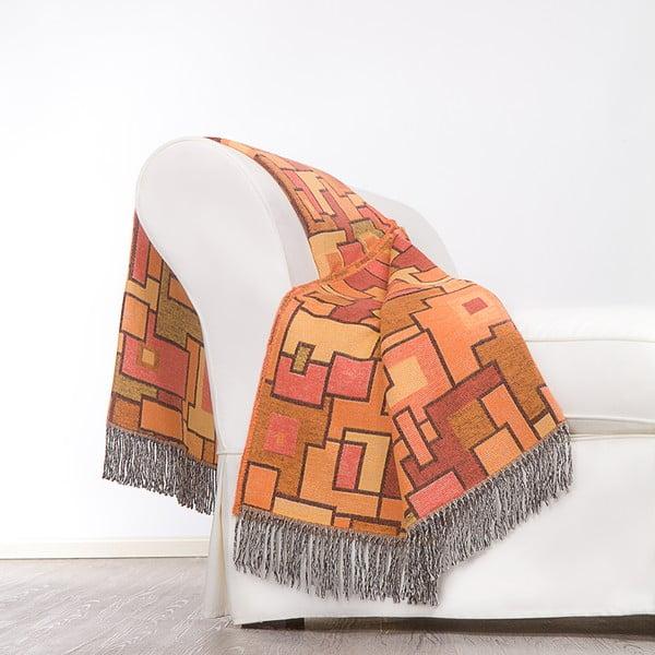 Pléd Maya 130x180 cm, oranžový