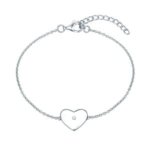 Stříbrný náramek s pravým diamantem Tess Diamonds Leva