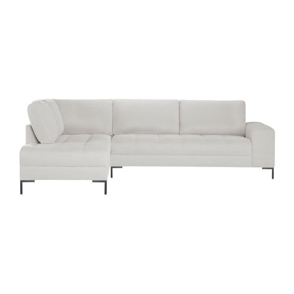 Bílá rohová pohovka Guy Laroche Home Harmony XL, levý roh