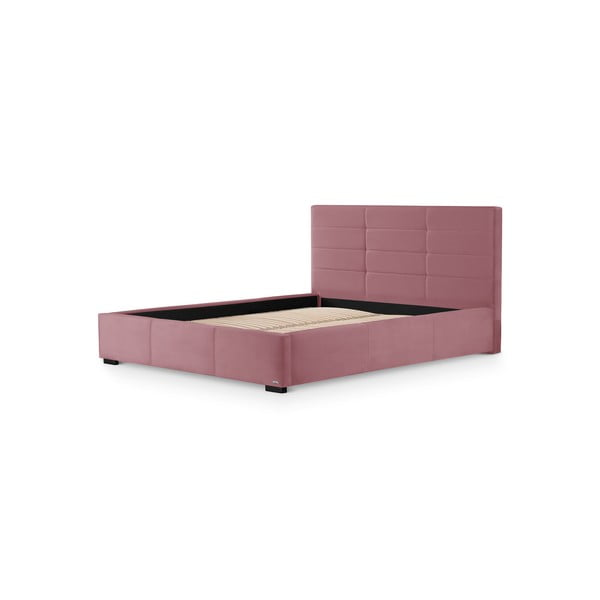 Růžová dvoulůžková postel s úložným prostorem Guy Laroche Home Poesy, 180x200cm