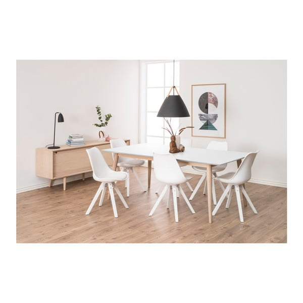 Sada 2 bílých jídelních židlí Actona Damia