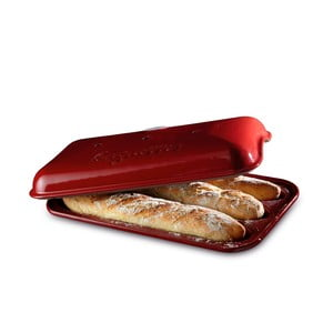 Forma na pečení baget Emile Henry, červená