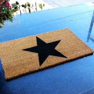 Rohožka Doormat Black Star, 70 x 40 cm