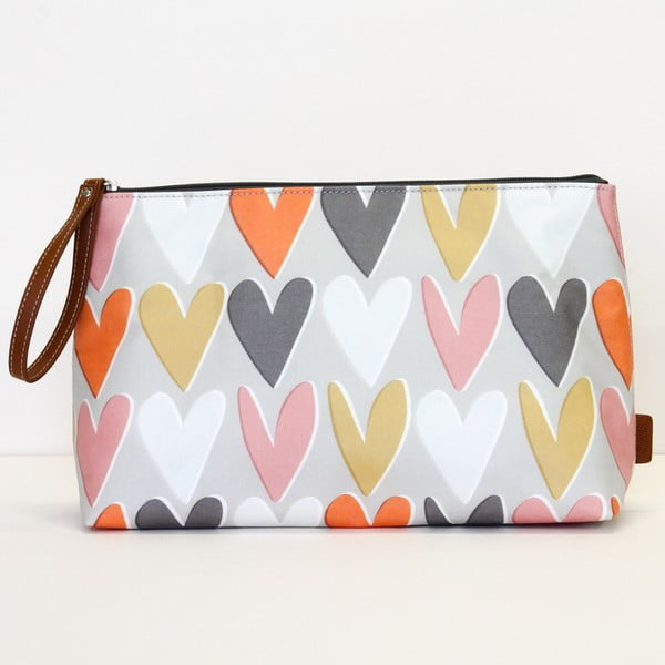 Gentuță pentru cosmetice Caroline Gardner Layered Hearts Wristlet Cosmetic Bag