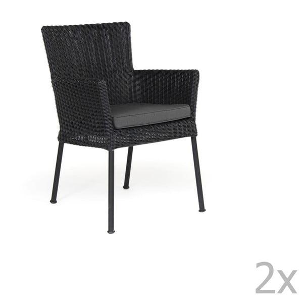 Sada 2 černých zahradních židlí Brafab Somerset