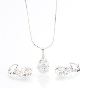 Set náhrdelníku a náušnic s krystaly Swarovski Elements Laura Bruni Drope
