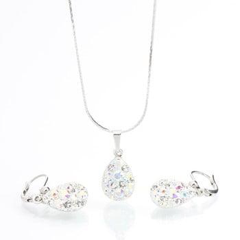 Set colier și cercei cu cristale Swarovski Laura Bruni Drope de la Laura Bruni