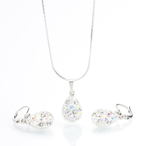Drope nyaklánc és fülbevaló szett Swarovski Elements kristályokkal - Laura Bruni