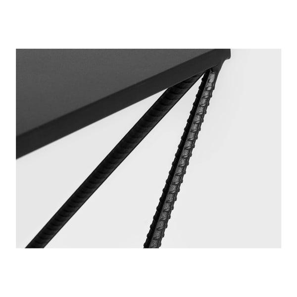 Măsuță de cafea Custom Form Daryl, lungime 80 cm, negru