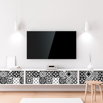 Set 60 autocolante de mobilier Ambiance Tiles Maria, 20 x 20 cm de la Ambiance