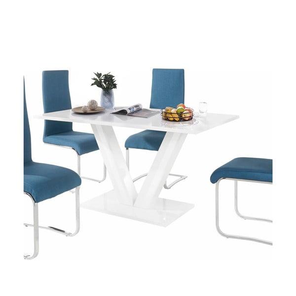 Sada stolu a 4 modrých židlí Støraa Aaron