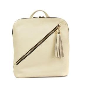 Béžový kožený batoh Carla Ferreri Sudo