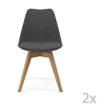 Set 2 scaune Tenzo Gina, gri de la Tenzo